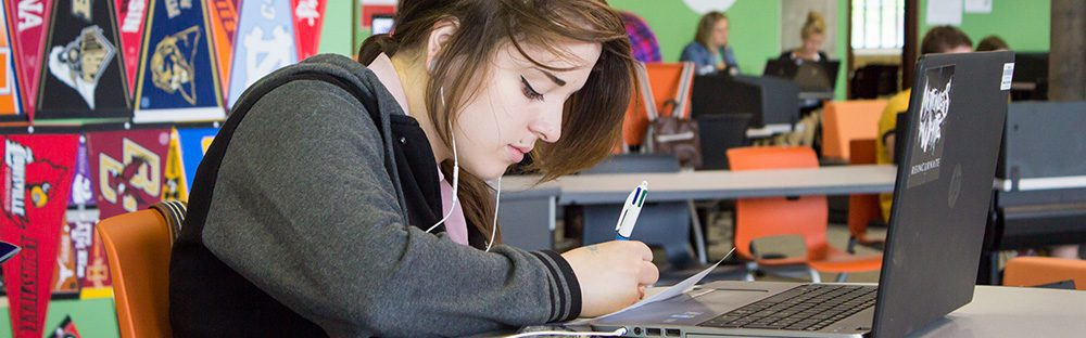 Image of NexTech High School student studying.
